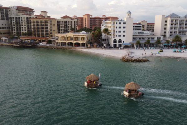 Two Cruisin Tiki Huts