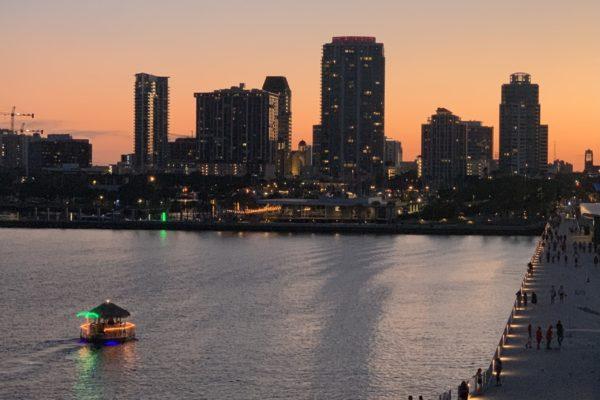 Tampa Skyline Sunset