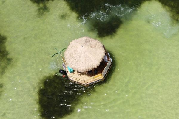 Drone Shot Tiki Hut